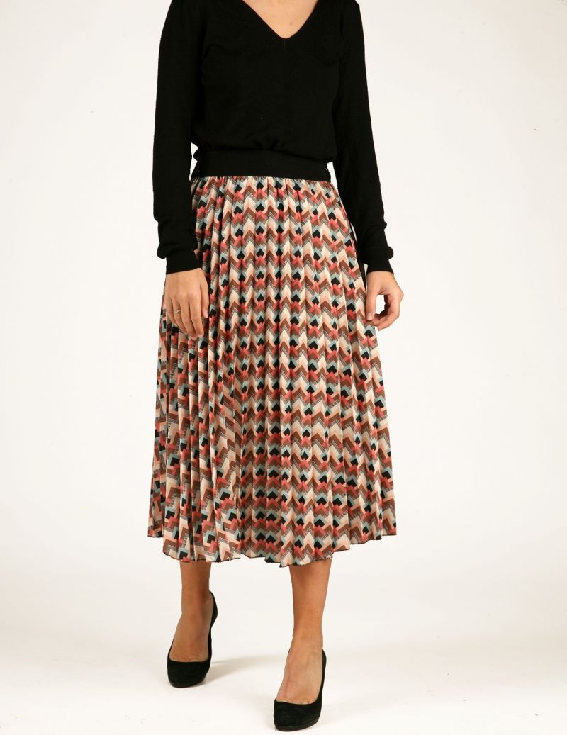 Magali pleated skirt