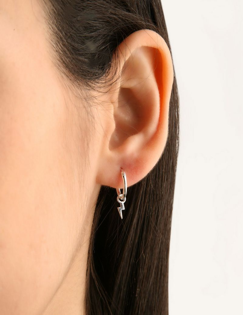 Small lightningh bolt earrings