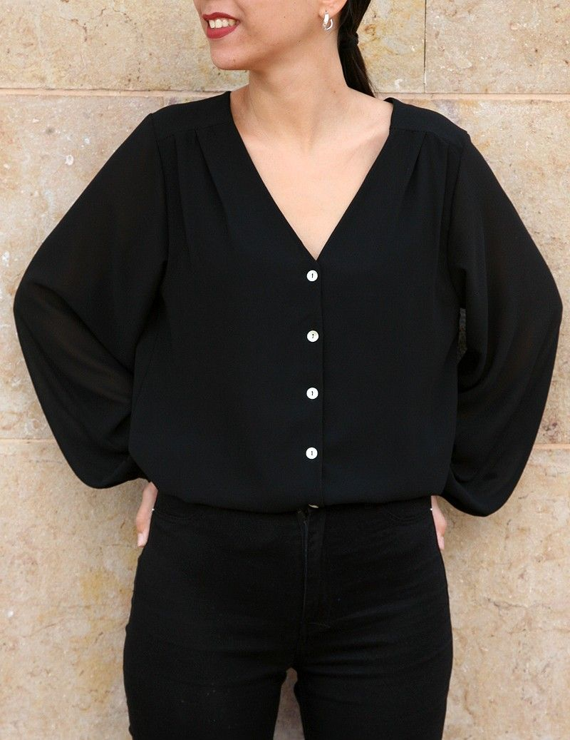 Blusa Clara negro