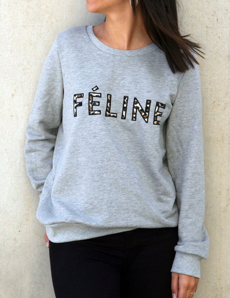 Camisola sweat feline