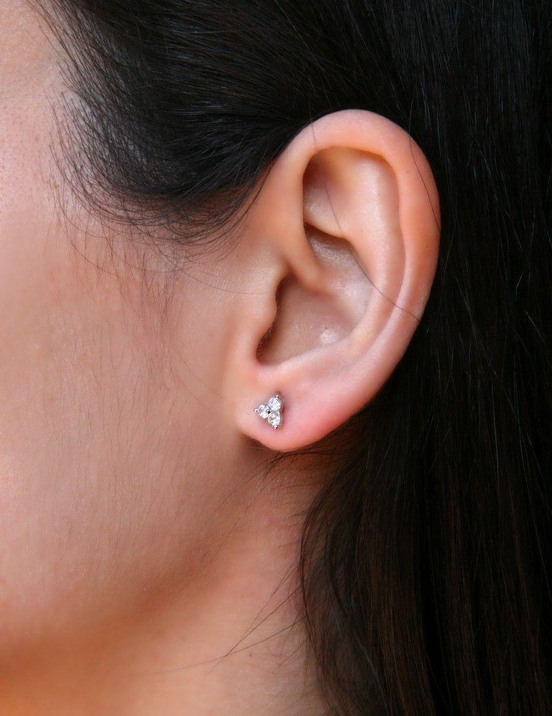 Mini zircons earrings