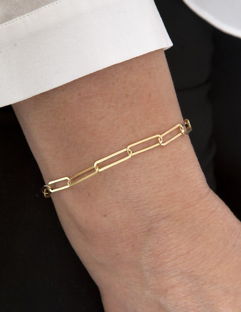 Chain bracelet with large...
