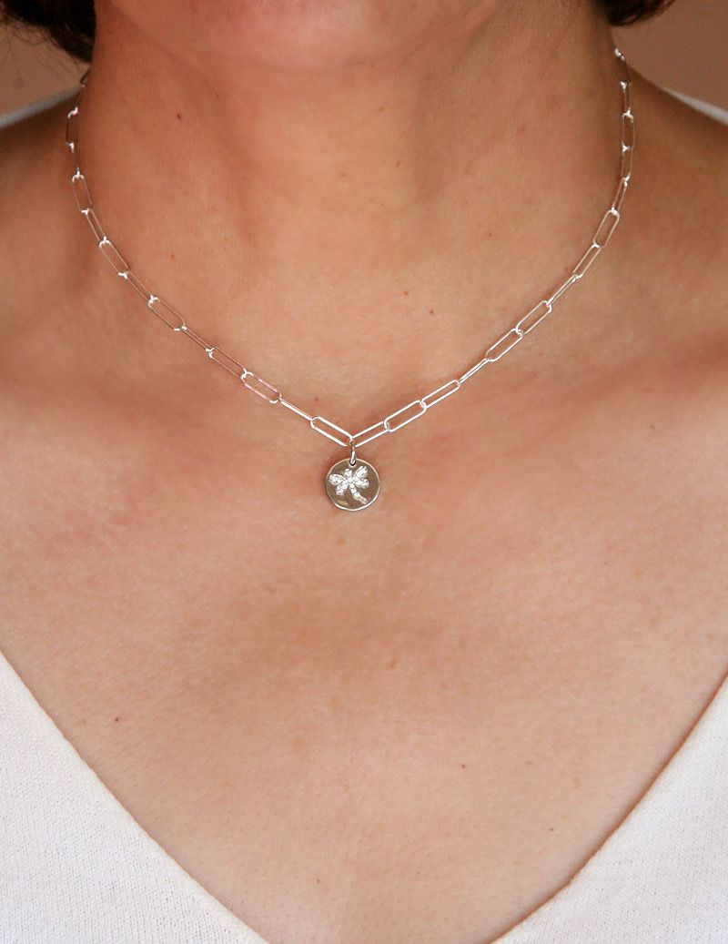 Collier maillons libellule